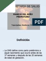 Manejo Del Rn Prematuro