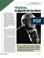 Milton Friedman, el pequeño gigante de las ideas