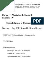 Mecánica Suelos I - Cap V - Consolidación - Compactación