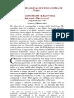 Depression Disease or Behavioral Shutdown Mechanism