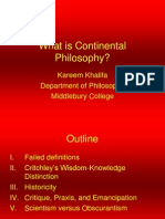 What is Continental Philosophy
