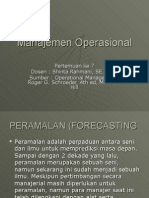 Manajemen Operasional, Forecasting