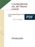 Análisis Jurisprudencial Sentencia  del Tribunal Constitucional