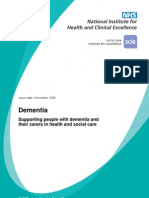 NICE guidelines of genetic and dementia