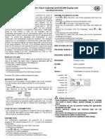 EC3-611 Rack Controller and ECD-000 Display Unit