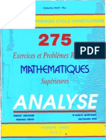 275 Exercices Et Problemes Analyse Superieure