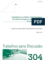 Inadimplencia de Credito e Ciclo Economico