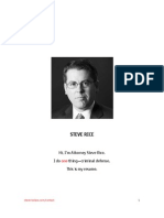 Resume - Attorney Steve Rice - Steve Rice Law