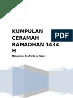 Kumpulan Ceramah Ramadhan 1434 H