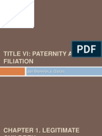 SCL Title VI Paternity and Filiation