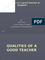 Qualities of a Good Teacher & Student