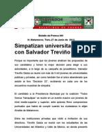 Simpatizan universitarioscon Salvador Treviño