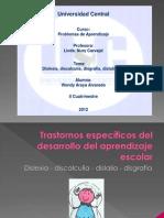 Trastornos específicos del desarrollo del aprendizaje escolar. Expo