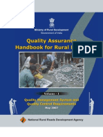 Quality Assurance Hand Book for Rural Roads VolumeI