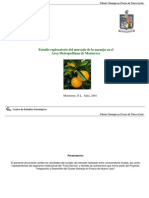 Estudio exploratorio del mercado de la naranja en el  Área Metropolitana de Monterrey