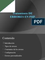 Tratamiento de Errores en Php