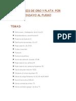 ANÁLISIS DE ORO Y PLATA  POR ENSAYO AL FUEGO