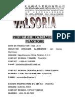 Projet de Recyclage de Plastique