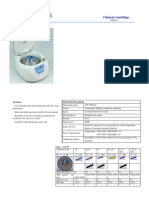 Clinical Centrifuge Specification