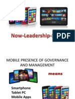 Mobile Presence of Governance and Managemen