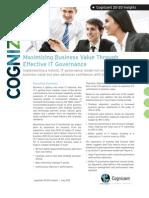 Maximizing Business Value Through Effective IT Governance