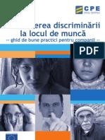 Combaterea Discriminarii La Locul de Munca