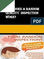 Random Inspection