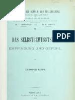 Lipps 1901 Das Selbstbewusstsein