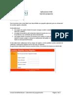 Ejercicio Propuesto Aplicaciones Web ASP