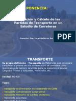 Definición y Cálculo de las Partidas de Transporte