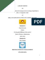 Final Project Report of Birla Sun Life Mutual Fund