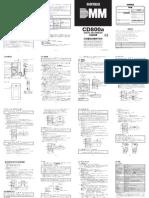 PH41338257452 Sanwa CD800a Manual