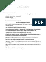 Affidavit of Witness for the Prosec - Kent Modio
