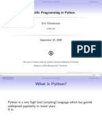Scientific Programming in Python