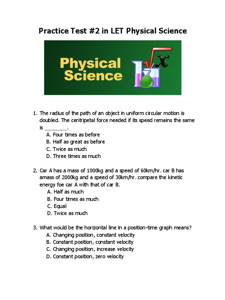 physical science questions to ask