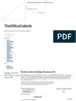 Restore Active Desktop Recovery Fix _ TheOfficeCubicle