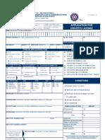 LTO Driver's License Form