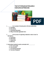 Practice Test in LET Professional Education