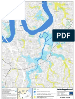 Flooding East Brisbane Flood Flag Map
