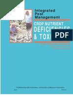 CROP NUTRIENT DEFICIENCIES - TOXICITIES