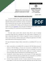 India External Debt March 2013