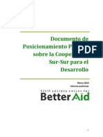 Policy Paper on South South Development Cooperation ESP