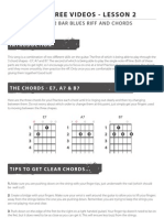 12 Bar Blues Riff and Chords