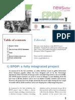 EPOP Newsletter #3 - April 2009