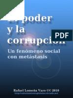 El Poder y La Corrupcion Un Fenomeno Social Con Metastasis