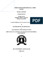 Microcontroller Based Digital Code Lock REPORT