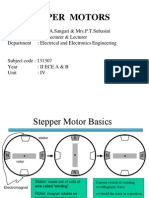 stepper motor construction and its functions