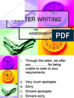 Evaluation Letter Writing