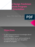 Interior Design Freshmen Parents Program Orientation