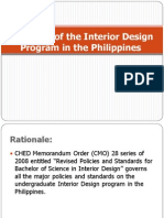 The State of the Interior Design Program in the Philippines